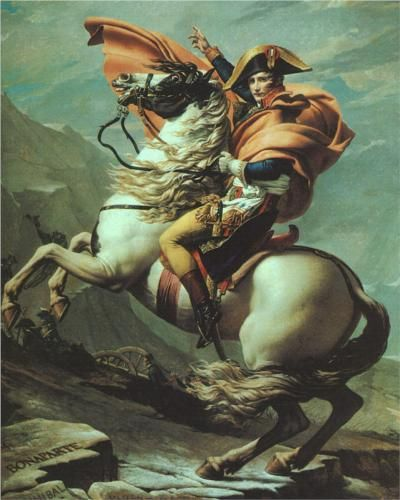 Jacques-Louis David - Napoleon Crossing the Alps at the St Bernard Pass, 20th May 1800 [1805]