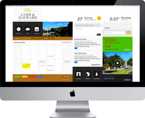 lamb hayward intranet design by eloise nevin via behance - Ui Design Ideas