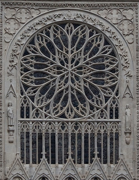 the rose window of Amiens Cathedral - France (by Stan Parry Photography)