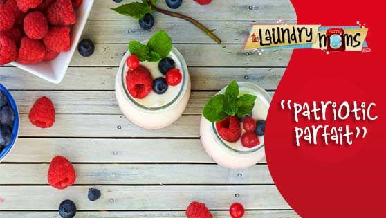 Patriotic Parfait ~Trim Healthy Mama Friendly~   Feeling a bit patriotic with Memorial Day just around the corner? This light and easy recipe will decorate your table with a red, white and blu…