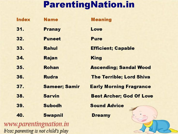 We Love These Sanskrit Baby Boy Names So Much That ParentingNation.in Made Slide For You. To Name Your Loved Once.