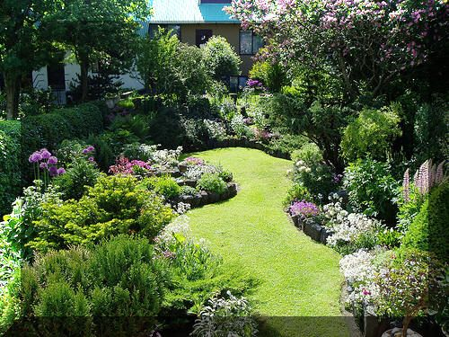 Jardín bonito.