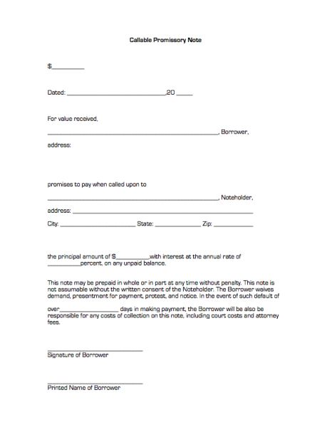 free promissory note templates - Google Search