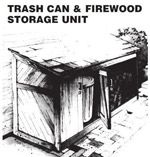 Build a Firewood & Trash Can Shed Plan Image