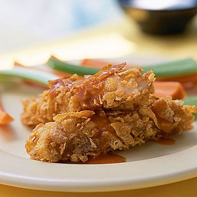 Buffalo-Style Catfish Strips with Ranch Dressing