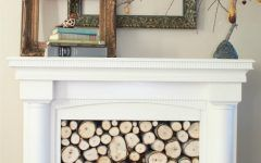 Faux Fireplace Mantels Remodelaholic | Repurposed Faux Fireplace Mantel