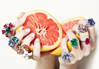 close up of hand with rings and props    Summer jewellery editorial