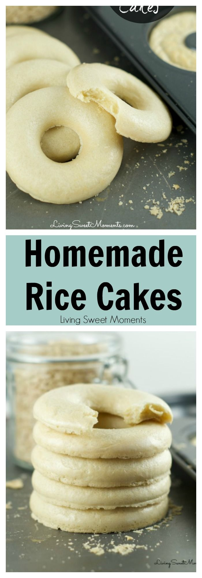 Brown rice cakes recipe - These easy to make baked brown rice cakes are…