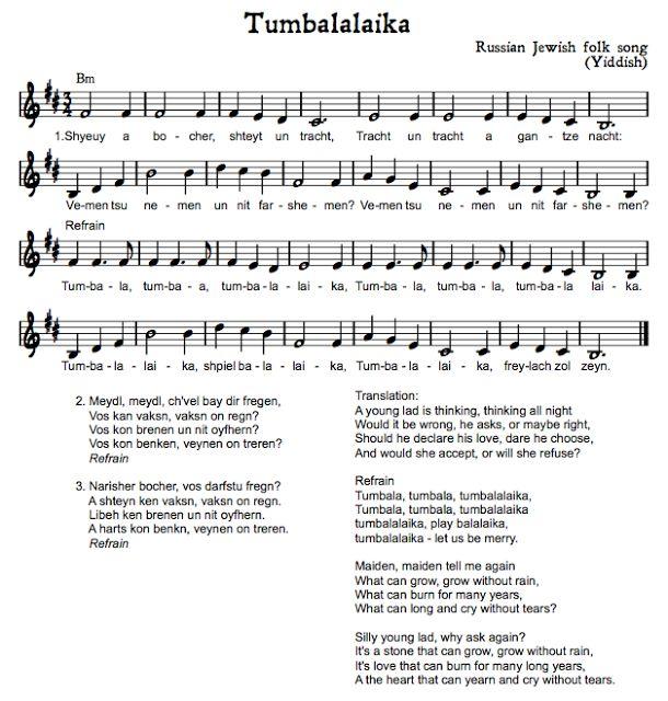 Beth's Music Notes: Hebrew Folk Songs