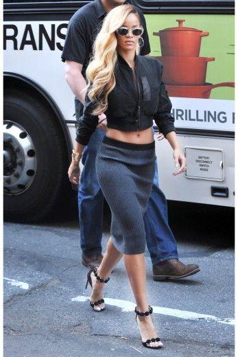 Hot Stepper Rihanna seen recently in New York City filming Budweiser comme