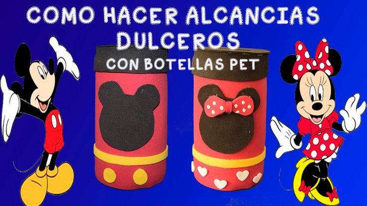 COMO HACER ALCANCIAS DULCERO CON BOTELLAS  PLASTICAS
