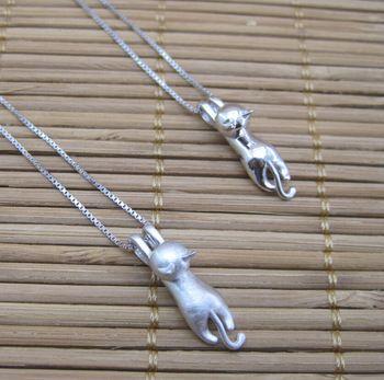 925 sterling zilveren ketting statement/2015 cat hangers mode vrouwen fijne sieraden daling van de scheepvaart/griekse ontwerper/h504