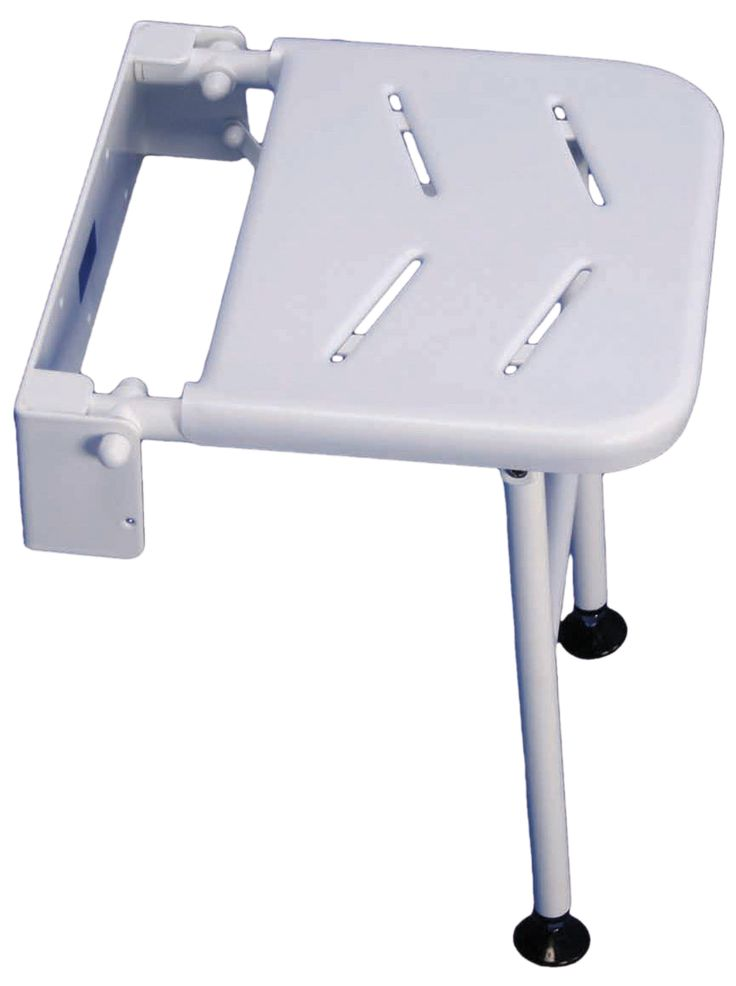 The Solo Cuxton Fold Away Compact Shower Seat is a compact seat designed to fit in areas where space is limited. Available in two models, one featuring a seat only and the other with the optional addition of a leg, the modle supplied here is including the adjustable legs, which gives the compact shower seat extra safety and load capacity.