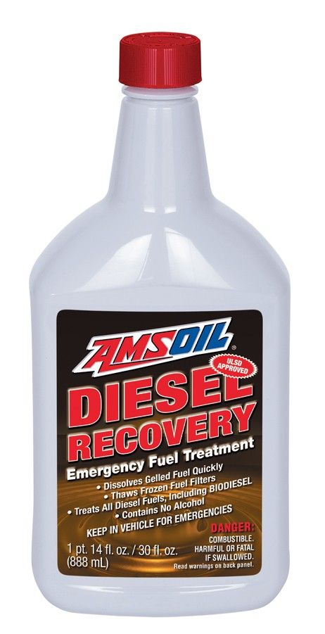 AMSOIL Diesel Recovery (DRC) is an emergency diesel fuel treatment that dissolves the wax crystals that form when diesel fuel has surpassed its cloud point. Diesel Recovery liquefies gelled diesel fuel and thaws frozen fuel filters, avoiding costly towing charges and getting diesels back on the road.