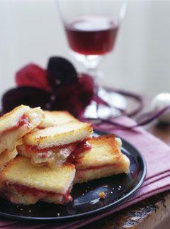 Canape: Brie & cranberry croque monsieur