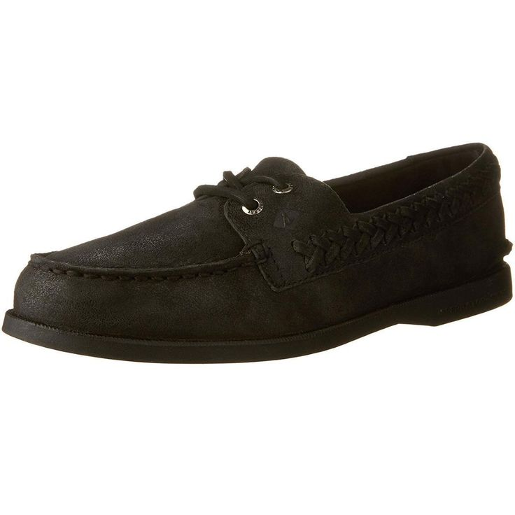 Sperry Top-Sider A/O Quinn Womens Black Boat Shoes