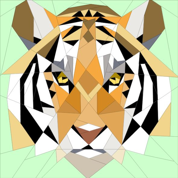 Looking for your next project? You're going to love Tiger - geometric 20