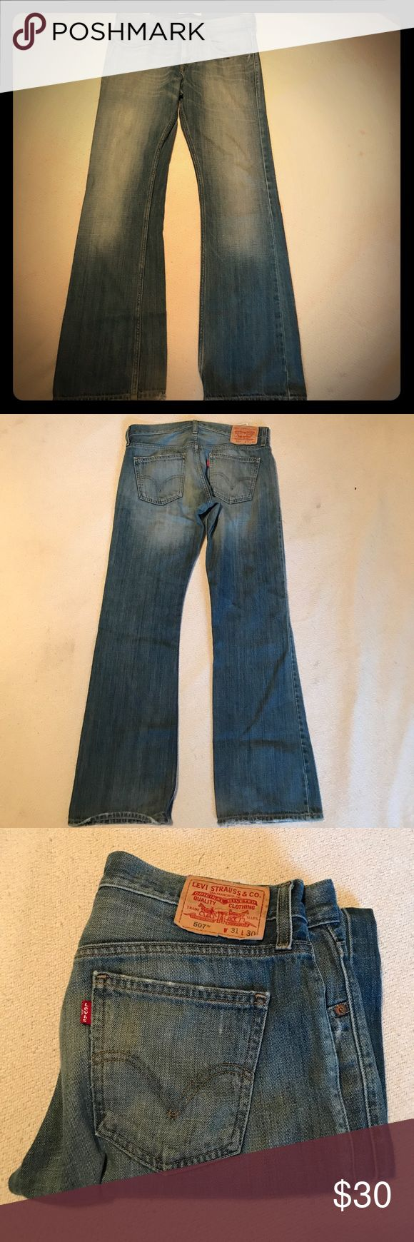 Levi's 507 boot cut slim vintage jeans see pics Cool fades and so comfy size 31 x 30 Levi's slim boot cut vintage denim jeans we ship fast www.selvedgeseitz.com Levi's Jeans Bootcut