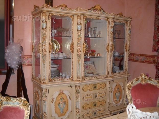 Sala da pranzo stile veneziano barocco