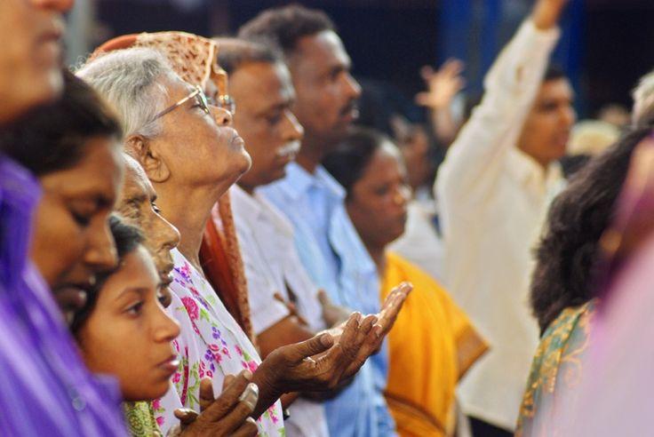 Worship service in AFT Church, Chennai. Led by Rev. Sam P. Chelladurai