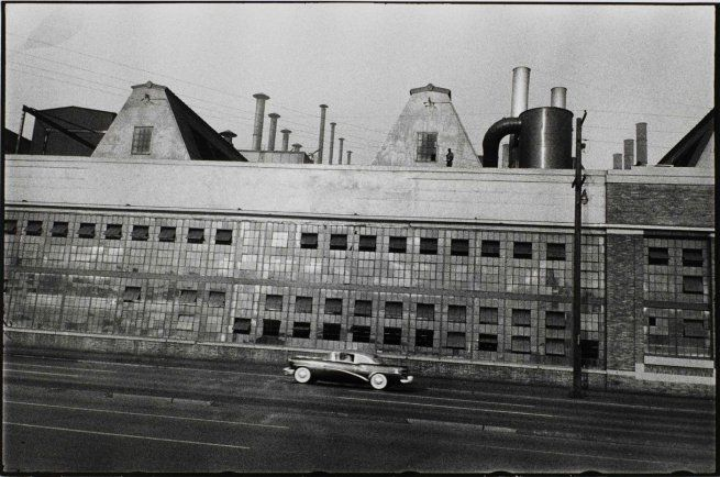 Rare view by great photographer Robert Frank. 'Ford River Rouge Plant' 1955.