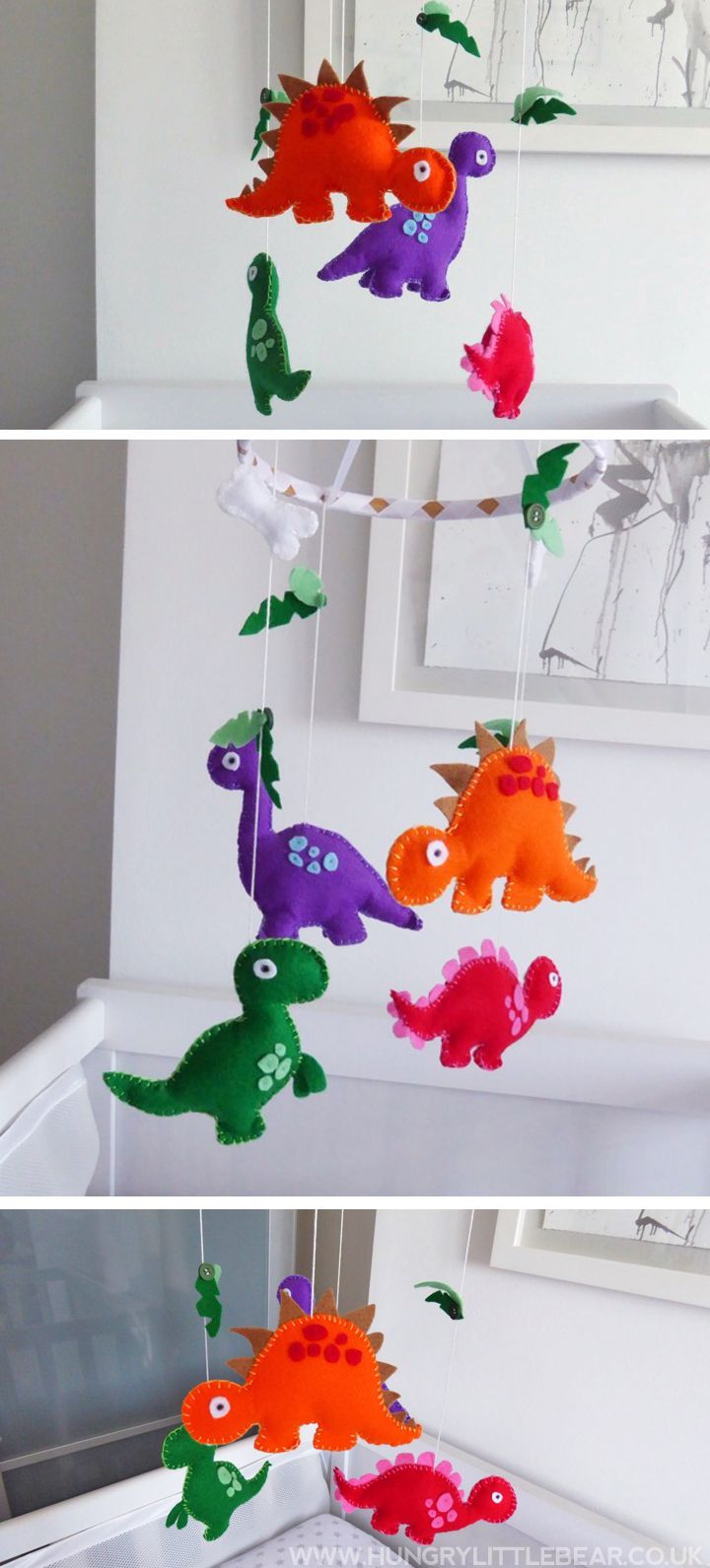 Froggies nursery wall decals by couture d 233 co - Create Your Own Diy Dinosaur Baby Mobile With This Super Simple Tutorial