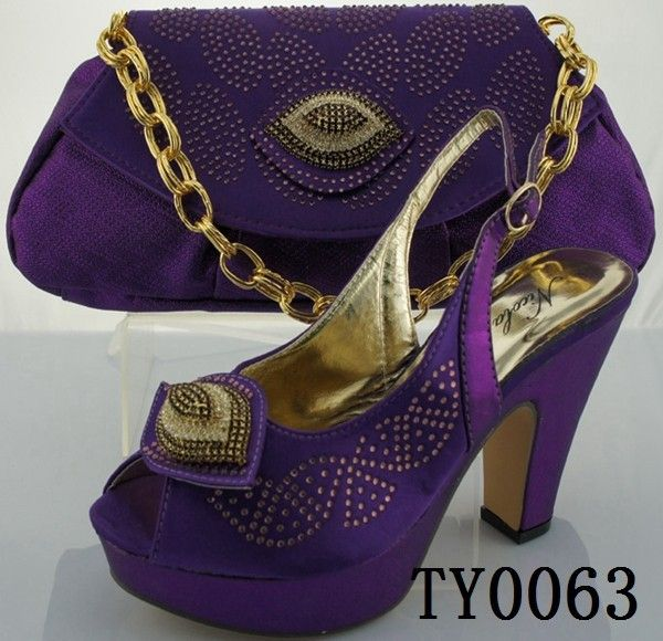 Italy Summer purple shoes and matching bags/high heel beautiful shoes and bags  FOB Price: US $ 38 - 70 / Set | Get Latest Price Min.Order Quantity: 1 Set/Sets Supply Ability: 8000 Set/Sets per Week