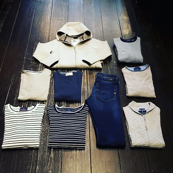 New MEN stuff #blueindustry #revolution #rvlt #diesel #tepphar #knitwear #vesten #stripes #blue #white #grey #menfashion #denim  Morgen #koopzondag 13-17uur