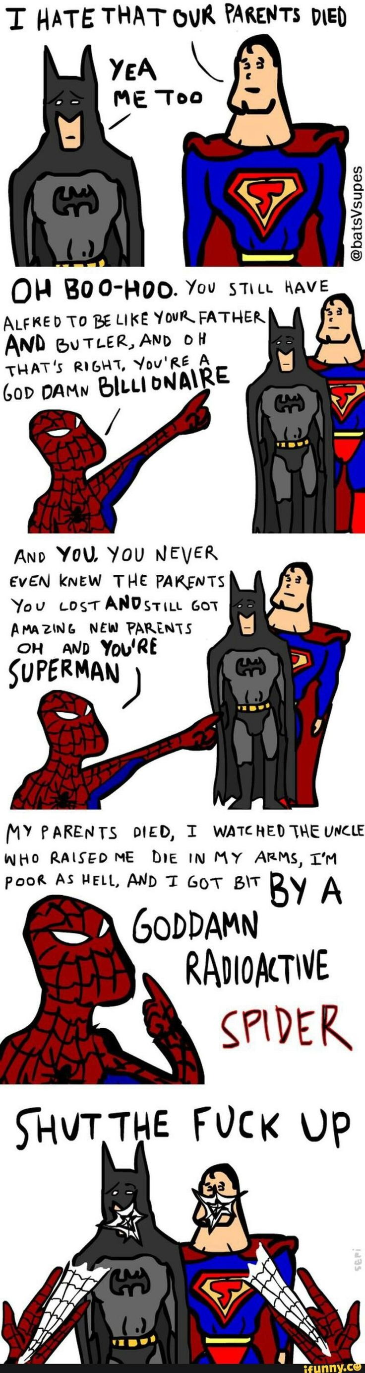 This Explains My Argument Over How More Emotionally Damaged Spiderman
