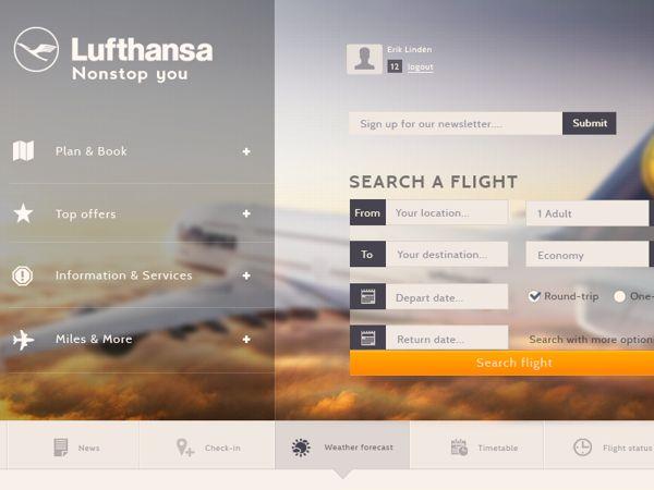 Lufthansa Concept Web Design #UI #UX