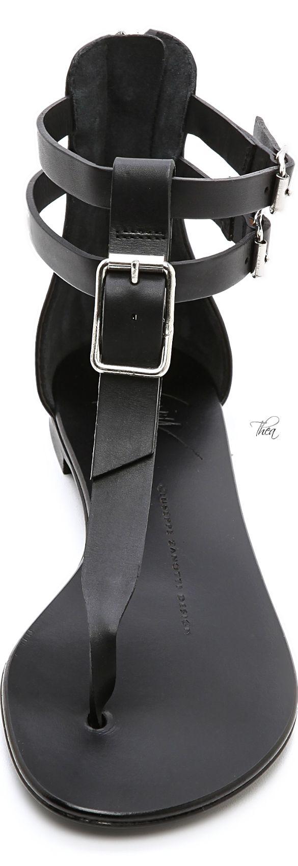 Giuseppe Zanotti   Flat T Strap Sandals | giuseppe zanotti