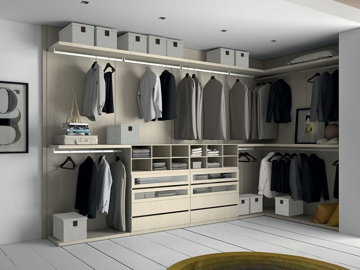 Wall-mounted walk-in wardrobe / contemporary / melamine / high-end - PROJECT - Dall'Agnese Industria Mobili