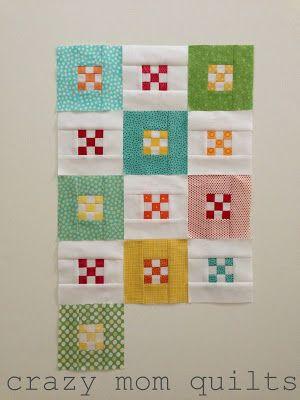 crazy mom quilts: mini nines