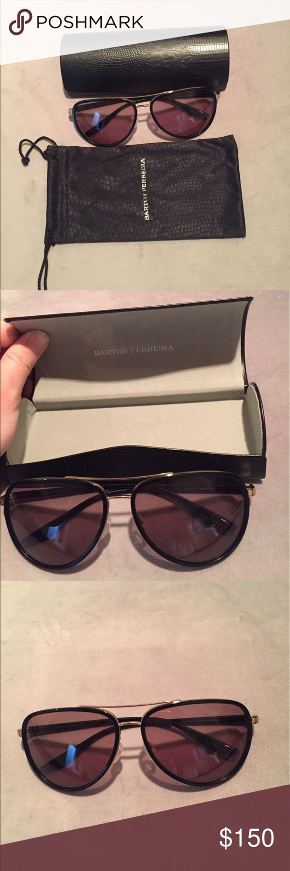 Barton Perreira Sunglasses Barton Perreira Sunglasses. Style Marshall. Never been worn. Come with Barton Perreira carrying case, Barton Perreira cleaning cloth and Barton Perreira carrying cloth case. NWOT. Barton Perreira Accessories Sunglasses