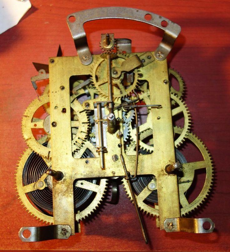 Vintage E Ingraham Clock Movement 4 26 Mantle Clock PARTS ONLY | eBay