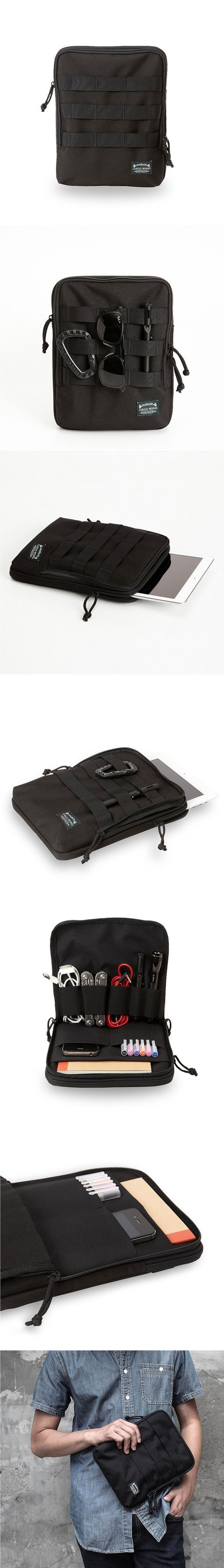 A compact lightweight design for organizing everyday carry while protecting your iPad and iPhone