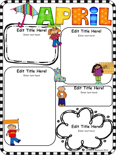 Editable Newsletters. Might need this now that I signed up to be the editor of Ella's preschool newsletter!  Cute!