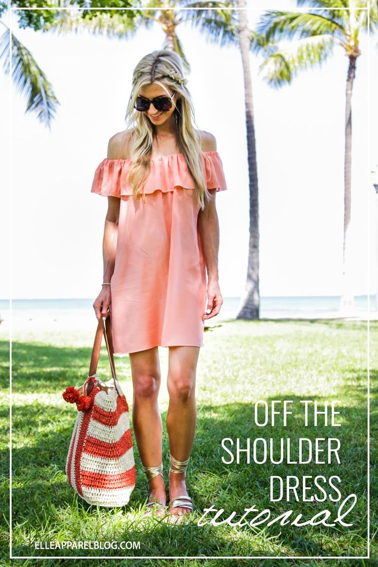 Off The Shoulder Dress sewing tutorial. Super simple to make and one of the hottest trends this summer!