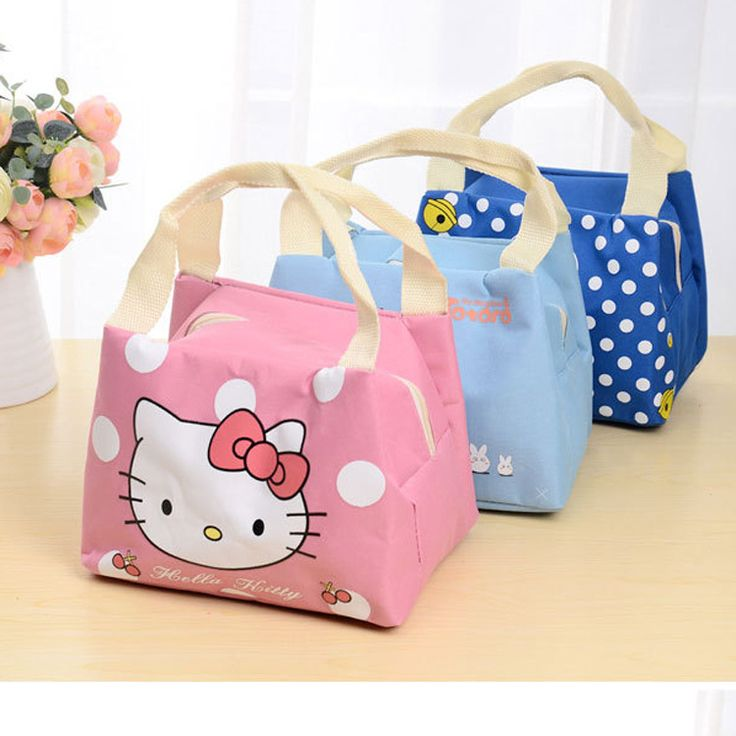 2016 new cartoon insulation laptop bag lunch bag of ice packs Waterproof student lunch box bag with rice for lunch bag HME04