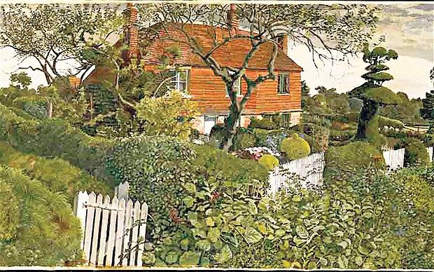 Stanley Spencer's 'Cottages at Burghclere'
