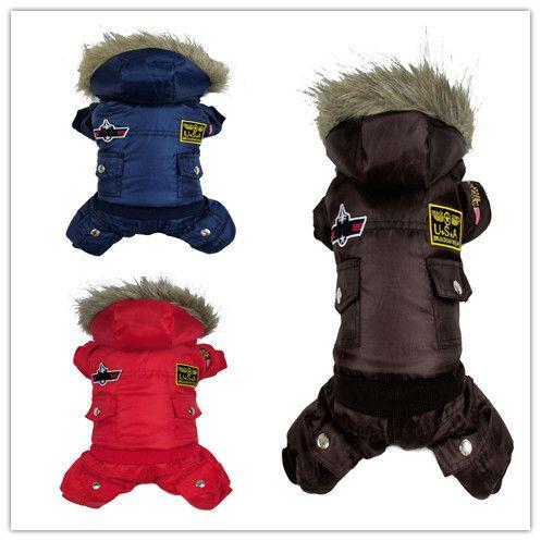 собака одежда зима собаки одежда комбинезон теплый спортивный костюм с мехом для сша ввс дизайн одежда для собак для собак товары для животных одежда для животных зима собаки собака зимняя одежда для собак