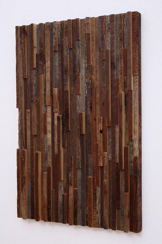 Reclaimed wood wall art  3 peice set  16x24x11/4 by CarpenterCraig, $700.00