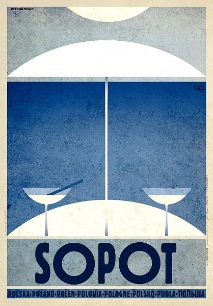 Sopot, Poland Sopot, Polska Kaja Ryszard Polish Poster