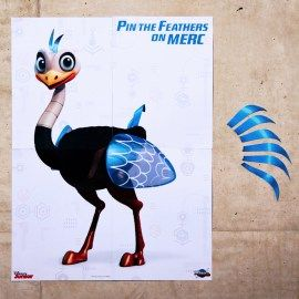 Pin the Feathers on Mere Party Game - Create a Miles from Tomorrowland Party Sponsored by HP   SKGaleana
