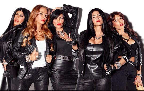 Mob Wives Season 4 Cast Photo with Alicia DiMichele Garofalo and Natalie Guercio
