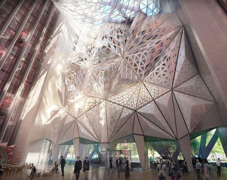 Zaha Hadid unveils sculptural hotel for casino resort in Macau #architecture ☮k☮
