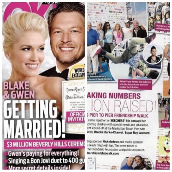 That's right. We were featured in OK! magazine alongside Gwen Stefani and a bunch of other cool peeps.Our awesome Lil' Commando's Harem Pants were centre stage and showing their durability and style as a lil' legend showed off some cra...