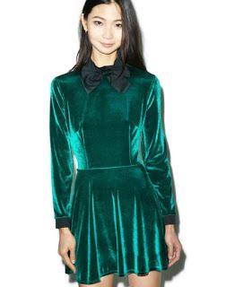 Платье из бархата с бантом | Clothing inspiration