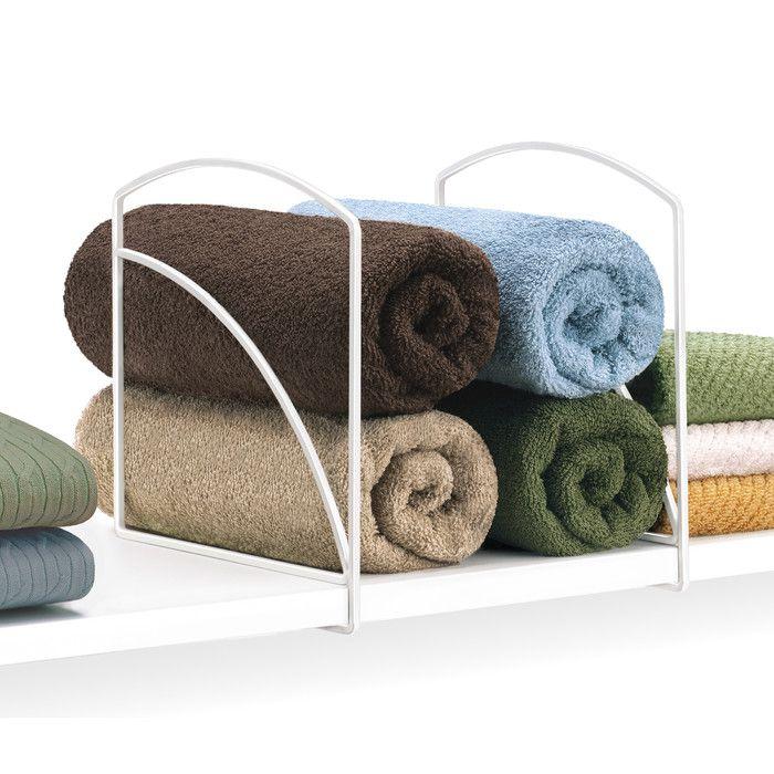 Lynk Closet Shelf Dividers - Closet Shelf Organizer (Set of 2)- White & Reviews | Wayfair