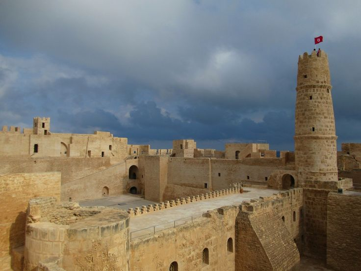 The 8th century Ribat at Monastir, Tunisia, had both military and religious functions.